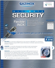 Gazinox SECURITY : le flexible qui suit le mouvement !